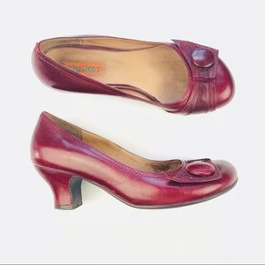 Miz Mooz Size 6.5 Red Trimble Heels